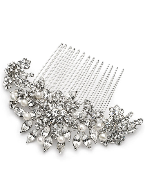 Alexa Pearl and Rhinestone Bridal Comb2