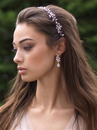 Callie Swarovski Crystal Ribbon Bridal Headband