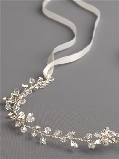 Callie Swarovski Crystal Ribbon Bridal Headband3