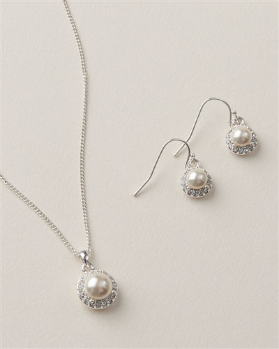 Swarovski Pearl Wedding Pendant Set