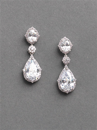 Emerson CZ Bridal Earrings