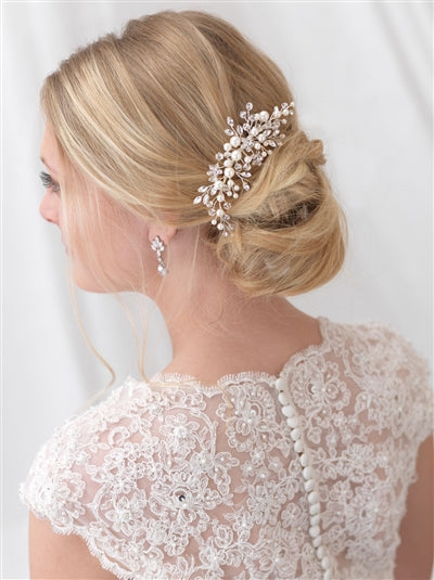 Emmy Floral Wedding Comb