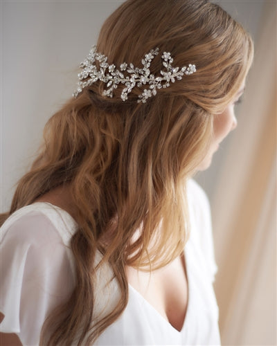 Everly Bridal Back Headpiece