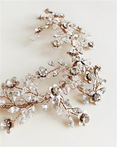 Everly Bridal Back Headpiece 4