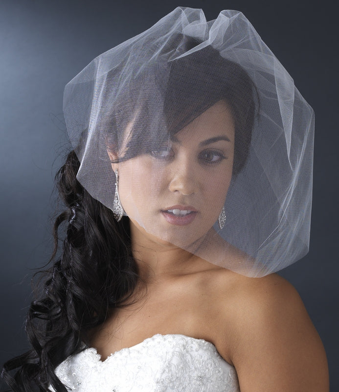 Fine Single Tier Bridal Wedding Birdcage Face Veil Blusher