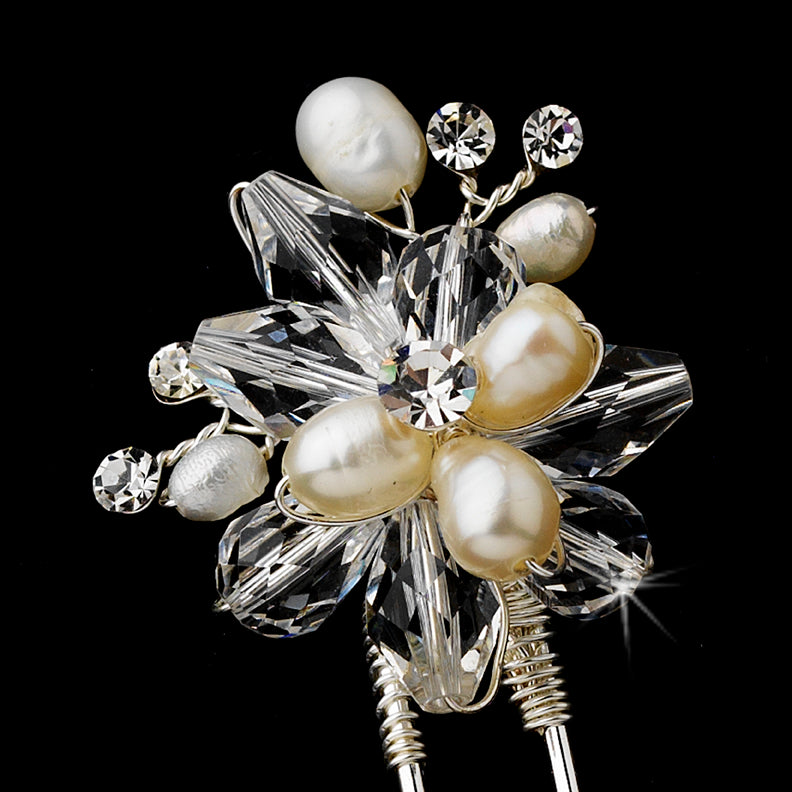 Pearl Crystal Bridal Hair Pin