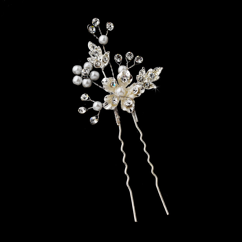 Silver or Gold Bridal Hair Pin