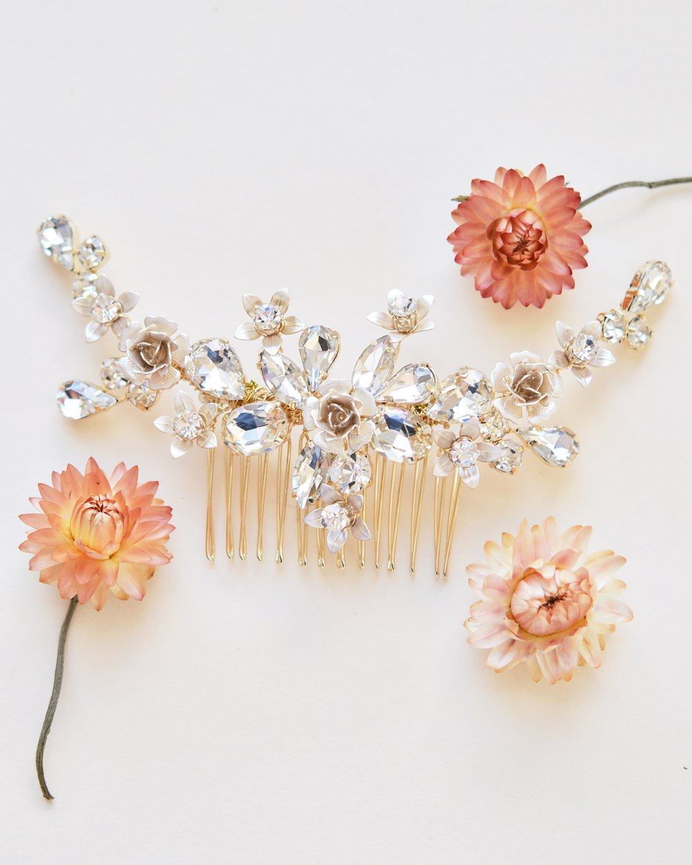 Hadley Floral Bridal Backcomb 2