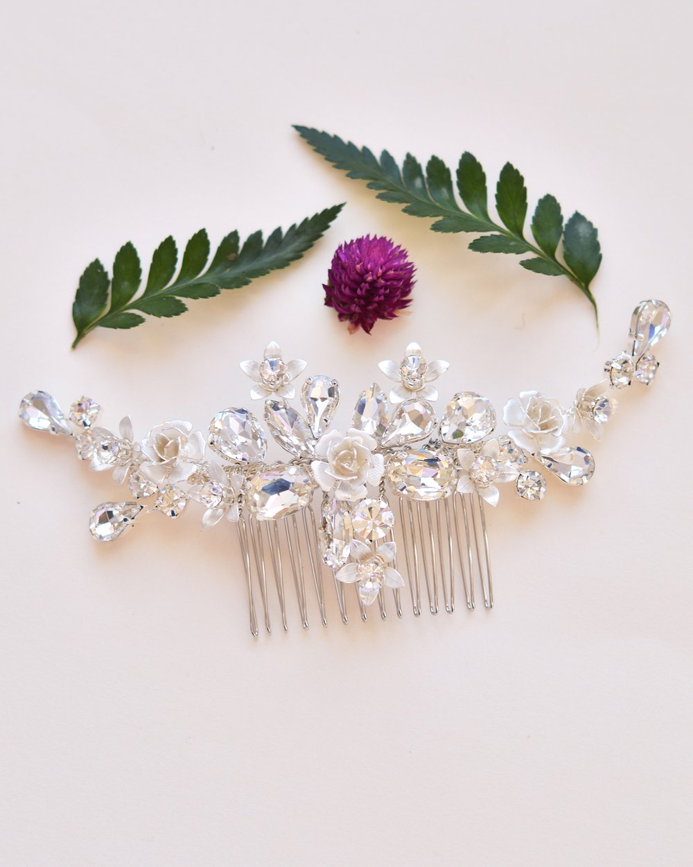 Hadley Floral Bridal Backcomb 3