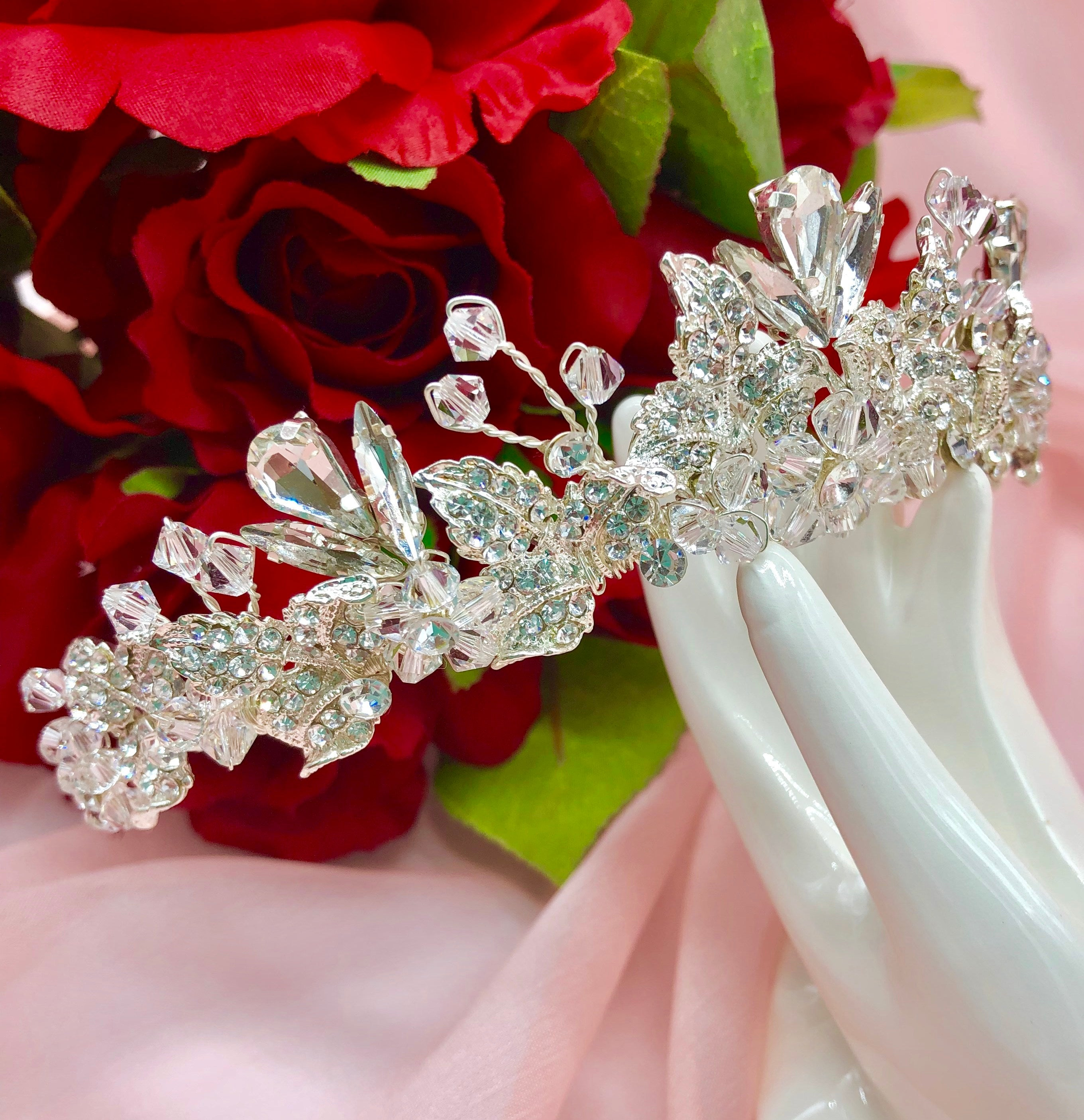 Abbey Swarovski Crystal Wedding Crown