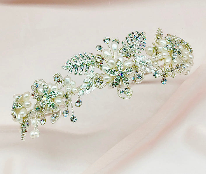 Sophia Floral Wedding Headband