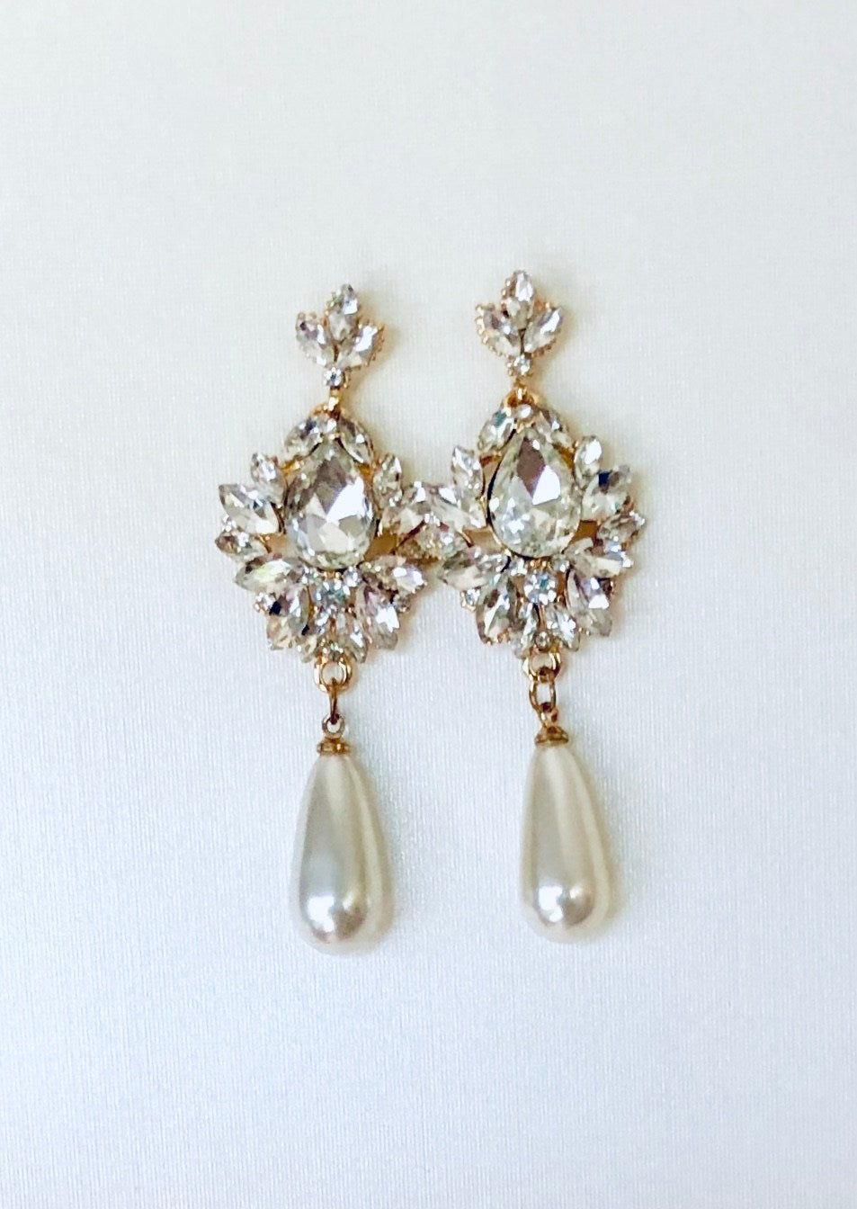 Sunburst CZ Pearl Drop Earrings