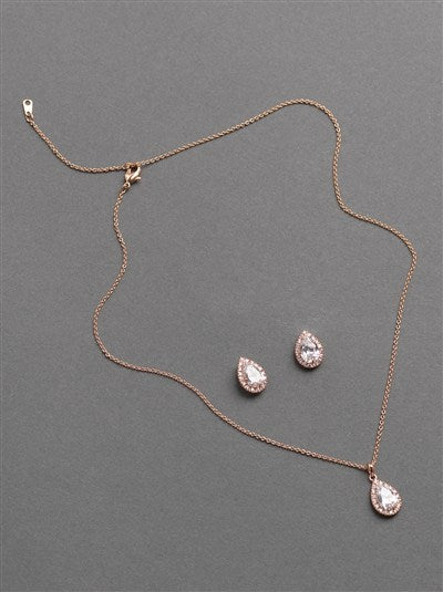 Emma CZ Necklace Earring Pendant Set
