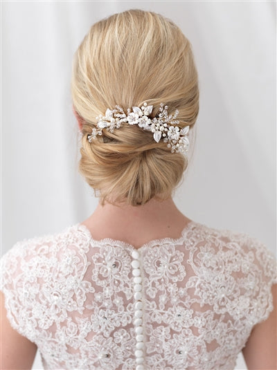 Josette Flower Bridal Hair Comb