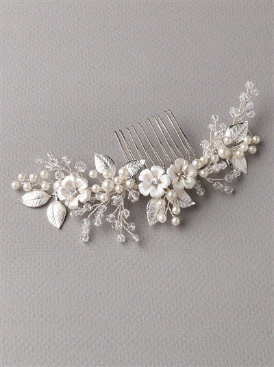 Josette Flower Bridal Hair Comb 2