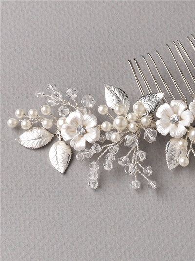 Josette Flower Bridal Hair Comb 3