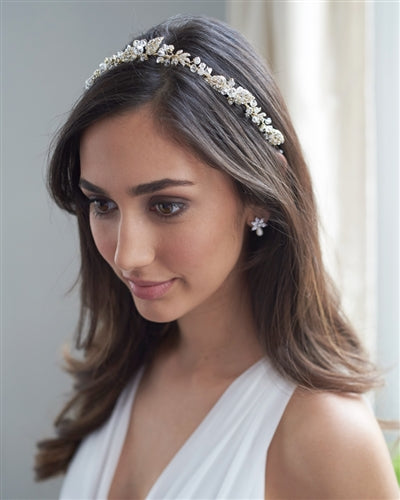Keeva Floral Ribbon Wedding Headband