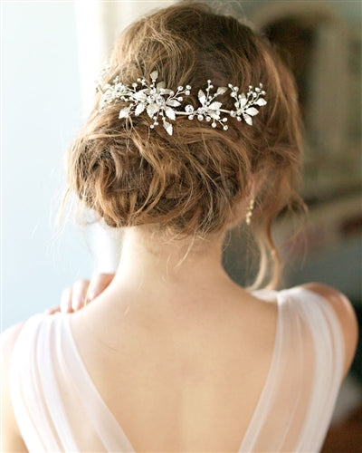 Lila Wedding Back Hair Comb