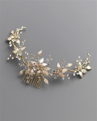 Lila Wedding Back Hair Comb 2