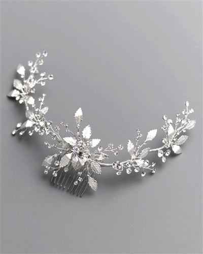 Lila Wedding Back Hair Comb 3