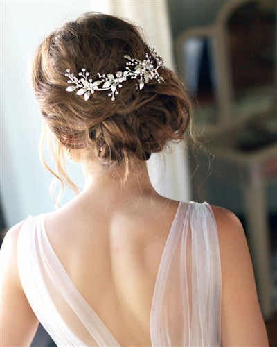 Lila Wedding Back Hair Comb 4