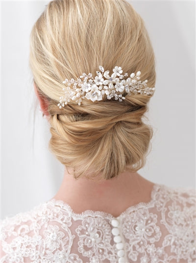 Pretty Bouquet Floral Bridal Comb