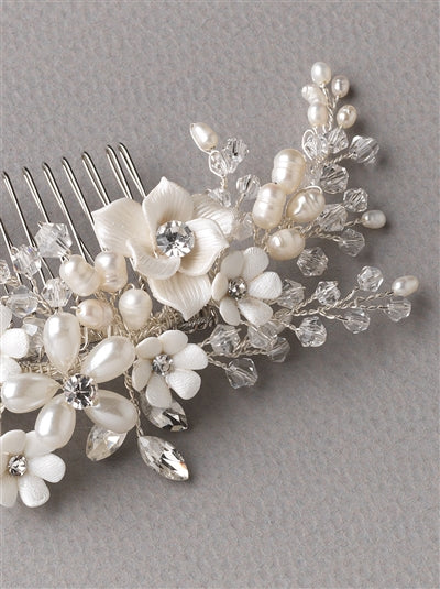 Pretty Bouquet Floral Bridal Comb 3