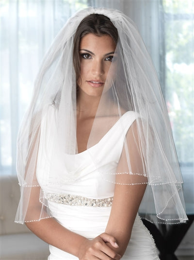 Sophie 2 Layer Swarovski Crystal Bridal Veil