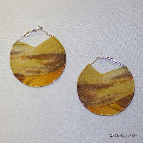 Mixed Yellow Silk Hoop Earrings 2