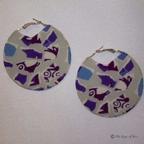 Mosaic Silk Hoop Earrings
