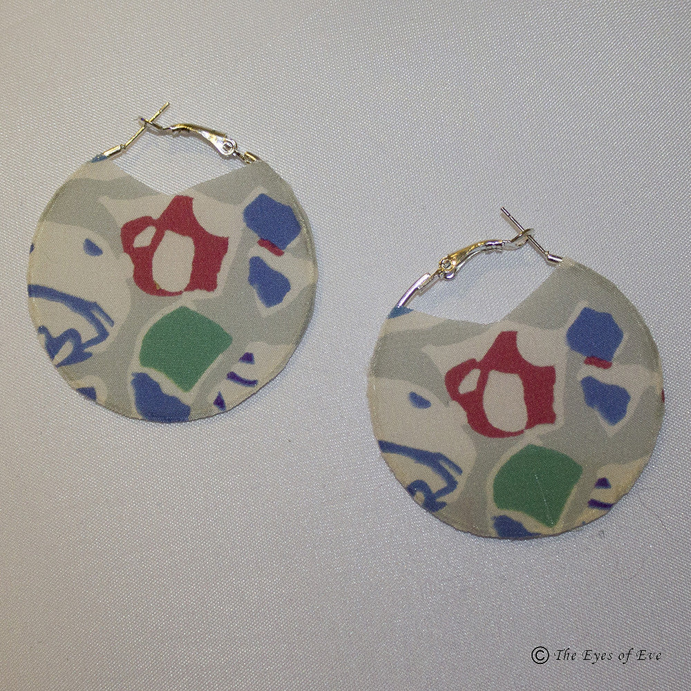 Mosaic Silk Earrings 2