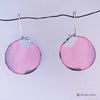 Pink Silk Hoop Earrings