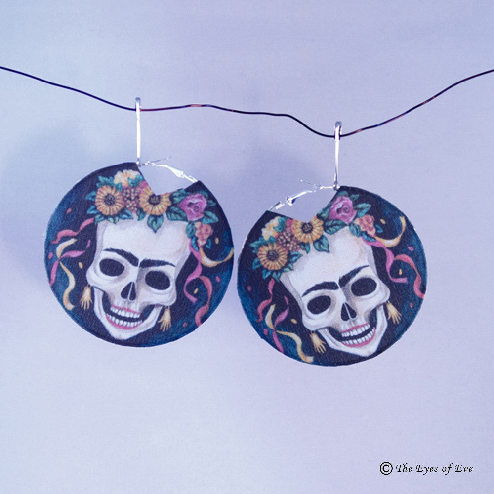 Day of the Dead Hoop Earrings