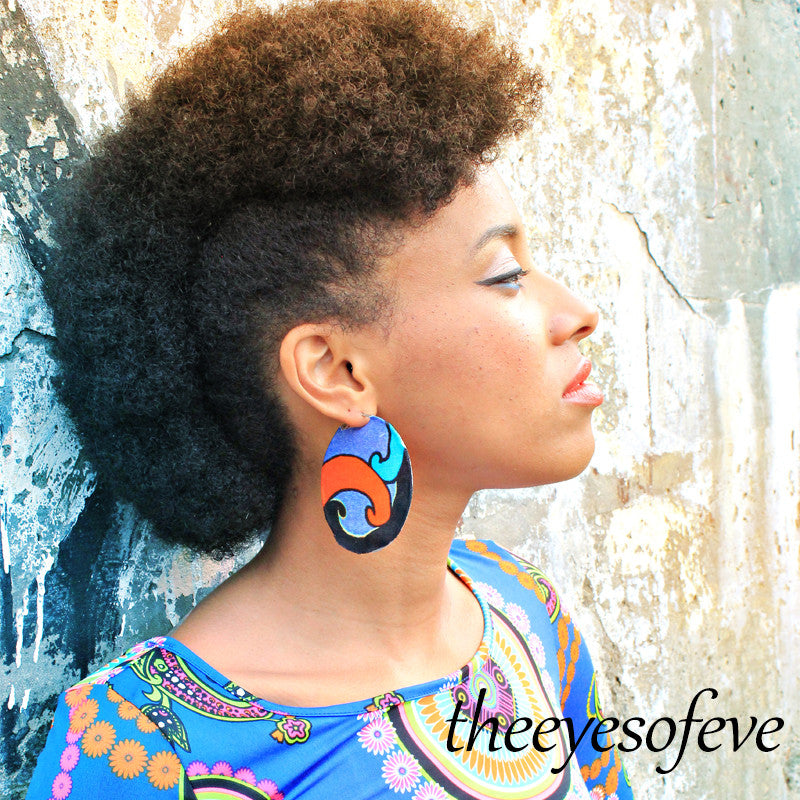 Multicolor Opaque-2 Silk   Hoop Earrings