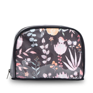 Travel Pouch Floral Brown