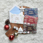 Load image into Gallery viewer, Greeting Card Medium Folded Floral X-Mas