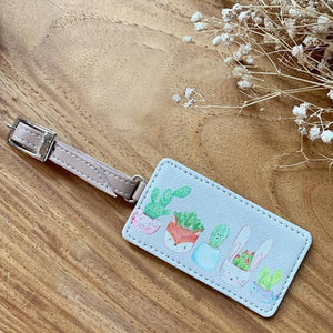 Luggage Tags Square Cactus