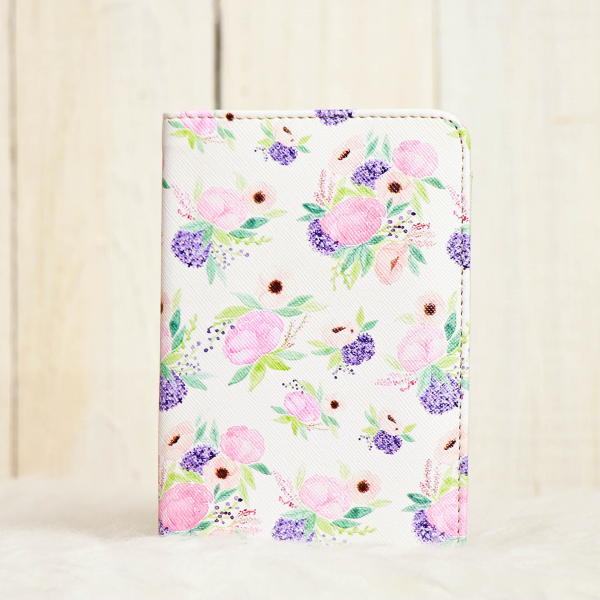 Passport Cover Purple Blossom