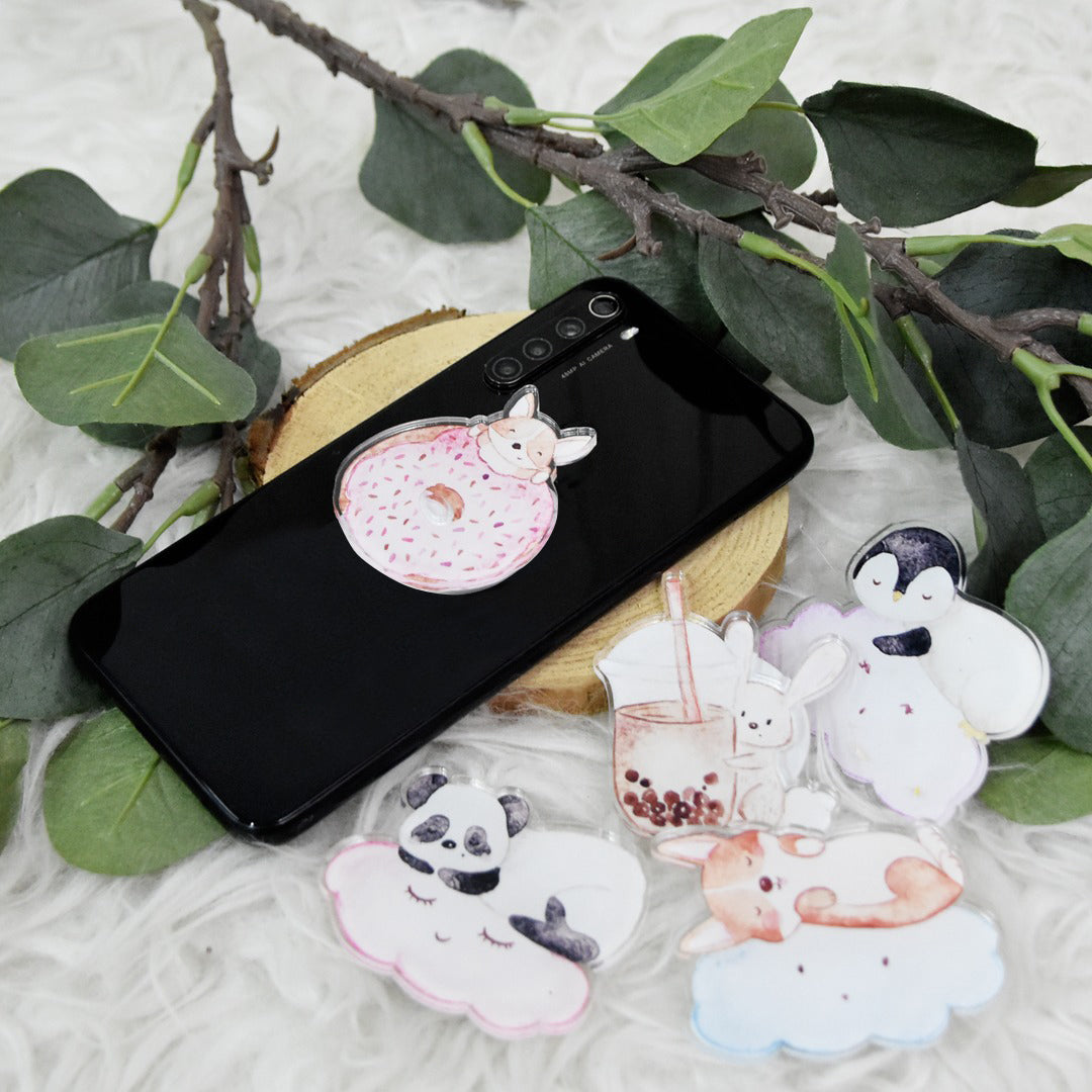 Pop Socket Rabbit Bubble Tea
