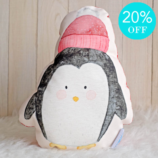Softies Small Xmas Penguin With Hat