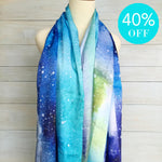 Load image into Gallery viewer, Scarf Satin Silk Aurora