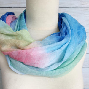 Scarf Chiffon Blue Night