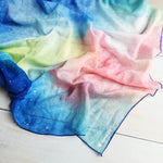Load image into Gallery viewer, Scarf Chiffon Blue Night