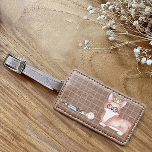 Luggage Tags Square Corgi