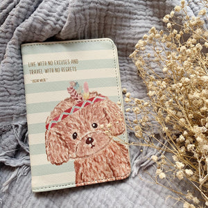 Passport Cover Toy Poodle