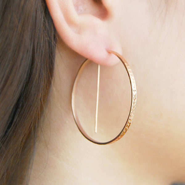 18k gold round earring