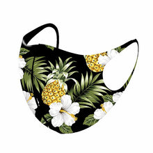 Load image into Gallery viewer, Hawaiian Pineapple Face Mask 100% Aerosilver fabric