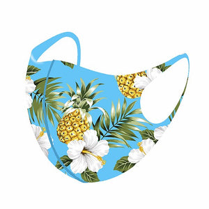 Hawaiian Pineapple Face Mask 100% Aerosilver fabric