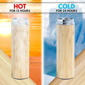 Organic Bamboo Vacuum Insulated Stainless Steel Travel Mug