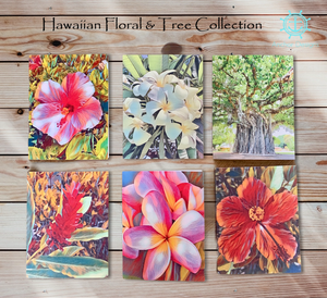 Hawaiian Floral & Tree Note Cards Collection (set of 6)